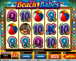 Beach Babes Slot Screenshot