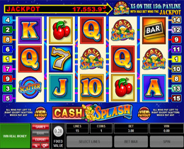 Cash Splash 5 Reel Slot Screenshot